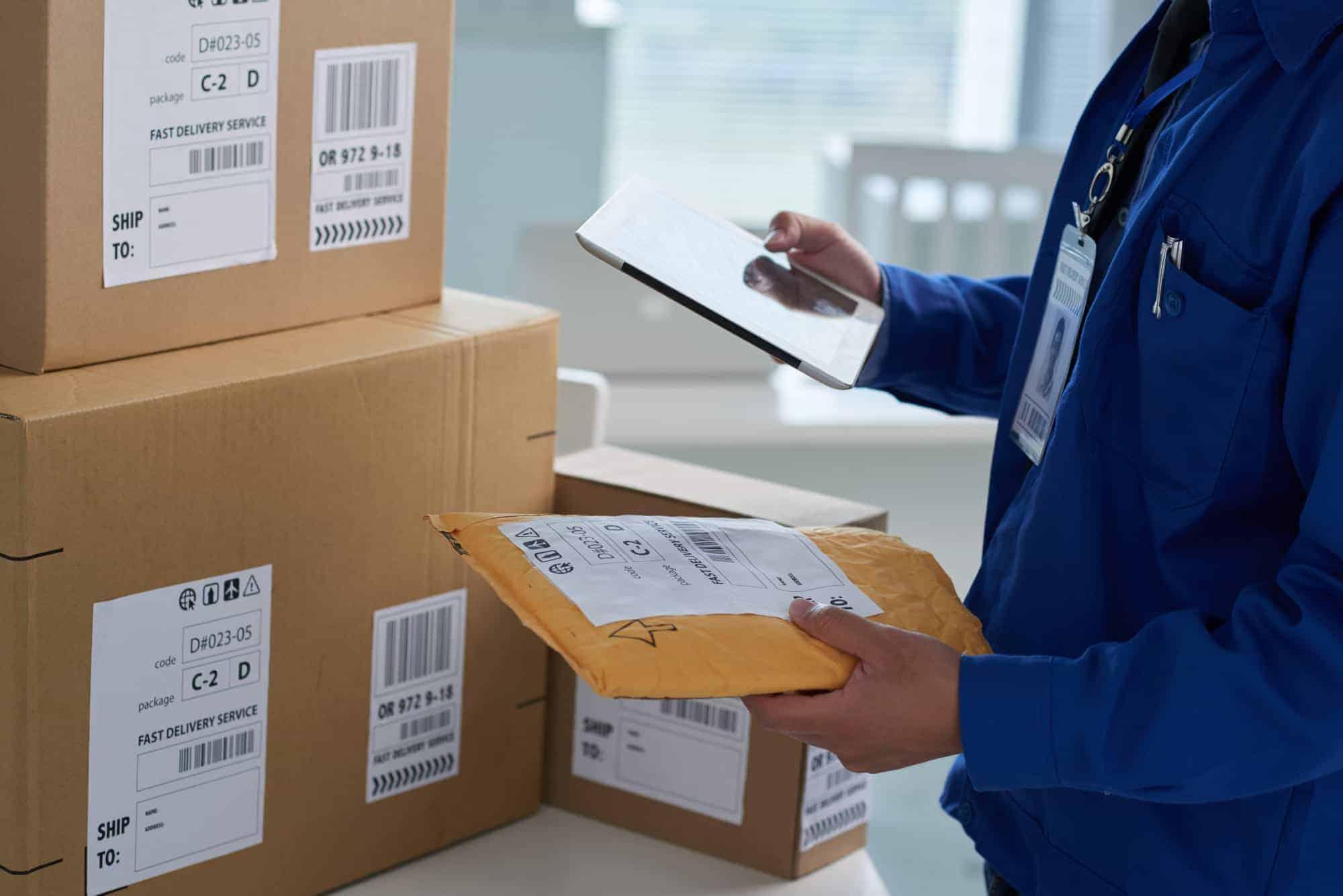 Checking shipping info