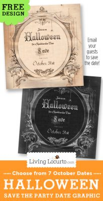 Halloween Party Save the Date Free Invitation