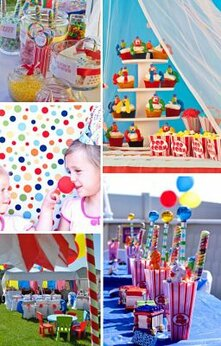 Circus Birthday Party Printables and Ideas