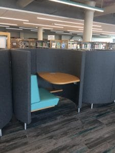 Study carrel at Wichita's Advanced Learning Library