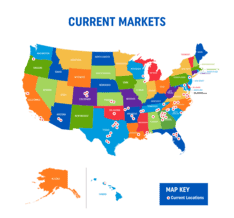 July 16 2021 Current Markets Map