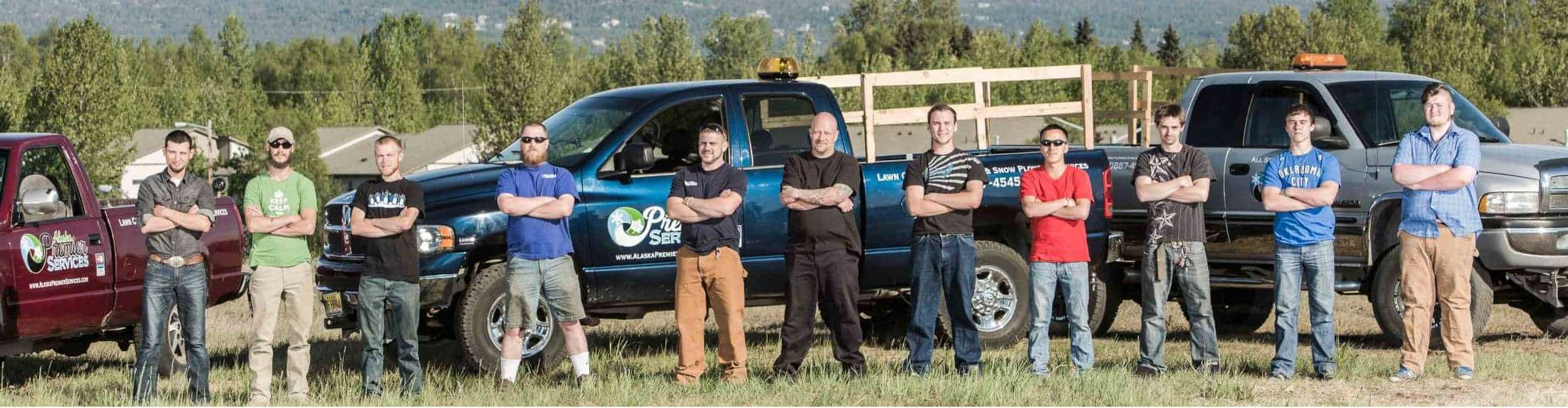 Anchorages best lawn care, landscaping and snow plowing service.