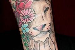 Old-School-Tatto-Arm-Löwe