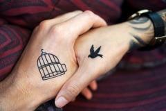 Partner Tattoo auf der Hand