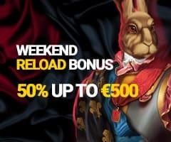 Weekend Reload Bonus 50% up to 500 EUR/USD