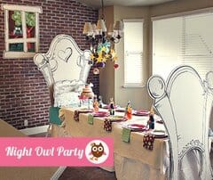Night Owl Birthday Party