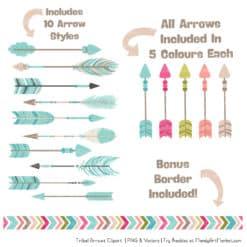 Bohemian Tribal Arrows Clipart