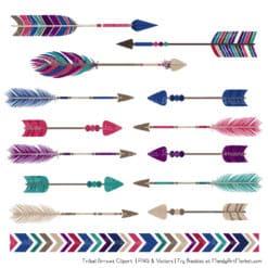 Jewel Tribal Arrows Clipart