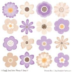 Lavender Cute Flower Clipart