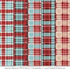 Red & Robin Egg Cozy Plaid Patterns