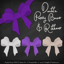 Free Violet Party Bow Clipart