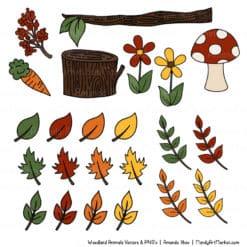 Natural Free Woodland Animal Clipart 2