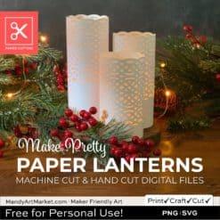 Photo of Free Paper Lantern SVG Christmas