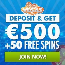 Slotty Vegas Casino   50 free spins and 100% up to €500 bonus   Review