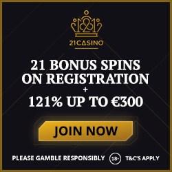 21casino.com free spins and review