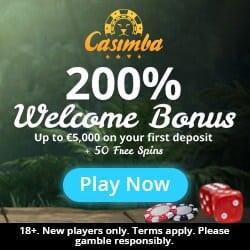 Casimba Casino [register & login] €5000 bonus and 50 free spins