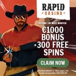 Rapid 300 bonus spins