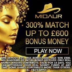 Midaur.com Casino Review: 300% bonus and free spins