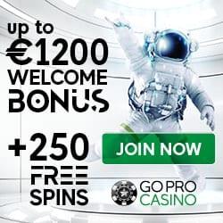 GoPro Casino [register & login] 1200€ bonus and 250 free spins