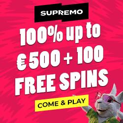 Supremo Casino banner EUR 250x250