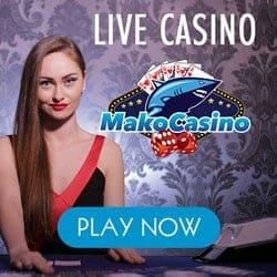Mako Casino £/$/€1000 free spins bonus on Live & Mobile games