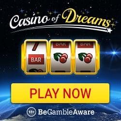 Casino of Dreams £1000 bonus and 50 free spins on Immortal Romance
