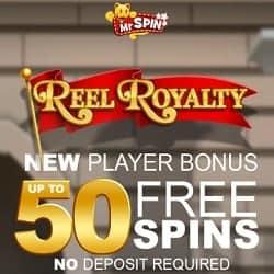 Mr Spin Casino (UK Slots) 50 free spins bonus - no deposit required
