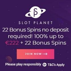 Slot Planet Casino 22 free spins on Dead or Alive (no deposit bonus)