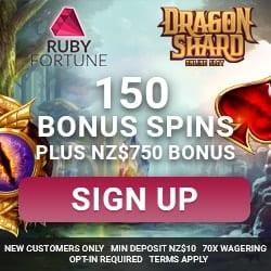 Ruby Fortune exclusive bonus banner 250x250