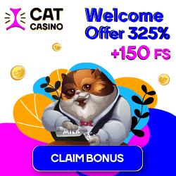 Cats Casino 325% Welcome Bonus