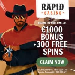 Rapid Casino bonus banner