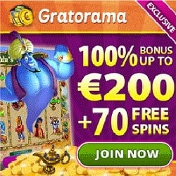 Gratorama Casino – 7€ free bonus money or 70 gratis spins – no deposit!