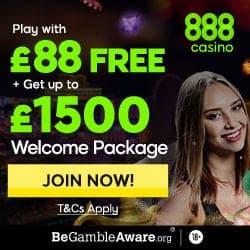888Casino $88 FREE (no deposit) + $1500 welcome bonus