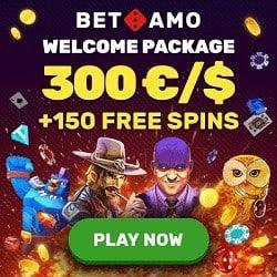 Betamo Casino welcome bonus + free spins + promo codes