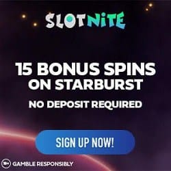 How to get 15 free spins without deposit to Slot Nite?