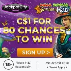 Deposit $1 and get 80 free chances on Mega Moolah