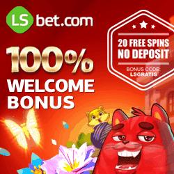LSbet Casino & Sports | 20 exclusive free spins + $300 welcome bonus
