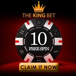 Thekingbet.com Casino   65 free spins + 150% bonus + $/€600 gratis