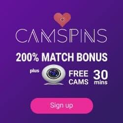 Camspins.com Casino 200% free bonus and 30 minutes web cam show :)