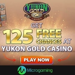 Yukon Gold Casino 125 free spins on Mega Moolah for $10 deposit