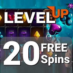 LevelUp Casino 20 FS ndb