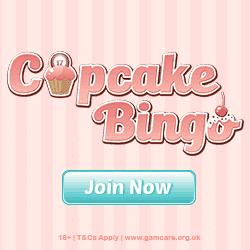 Cupcake Bingo Casino banner 250x250
