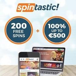 Spintastic.com - 200 free spins + €500 gratis + no deposit bonus