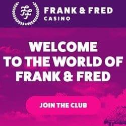 FrankFred.com no deposit bonus: 100 free spins on registration