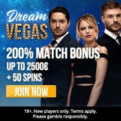 Dream Vegas Casino [register & login] 120 free bonus spins