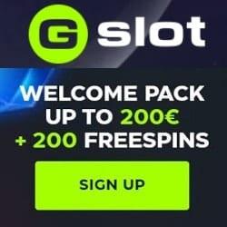GSlot Casino free spins welcome bonus