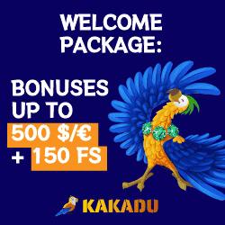 Kakadu Casino welcome bonus image
