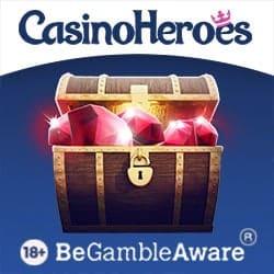 Casino Heroes (online & mobile) 900 free spins and €5 no deposit bonus