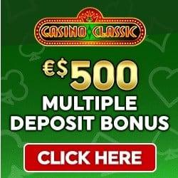 Casino Classic 50 free spins and $/€500 multplie deposit bonus