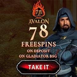 Avalon78.com - 78 gratis spins+ no deposit bonus + free codes